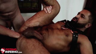 FistingInferno – Hairy Daddy Rides Fist Like A Champ